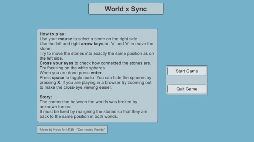 World x Sync ( Ludum Dare 30 ) by clivid