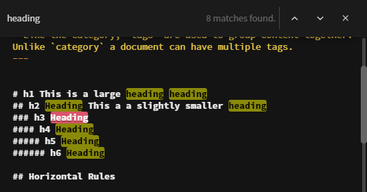 Overlay with search text for