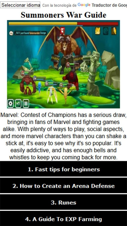 Guide For Summoners War By Istari