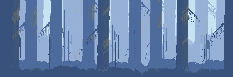 Pixel Art Snowy Forest