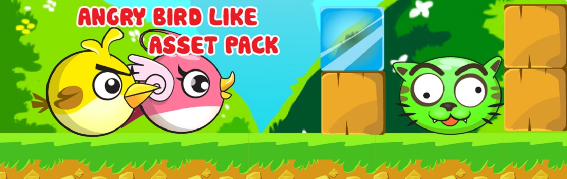 Angry Bird Like Asset Pack