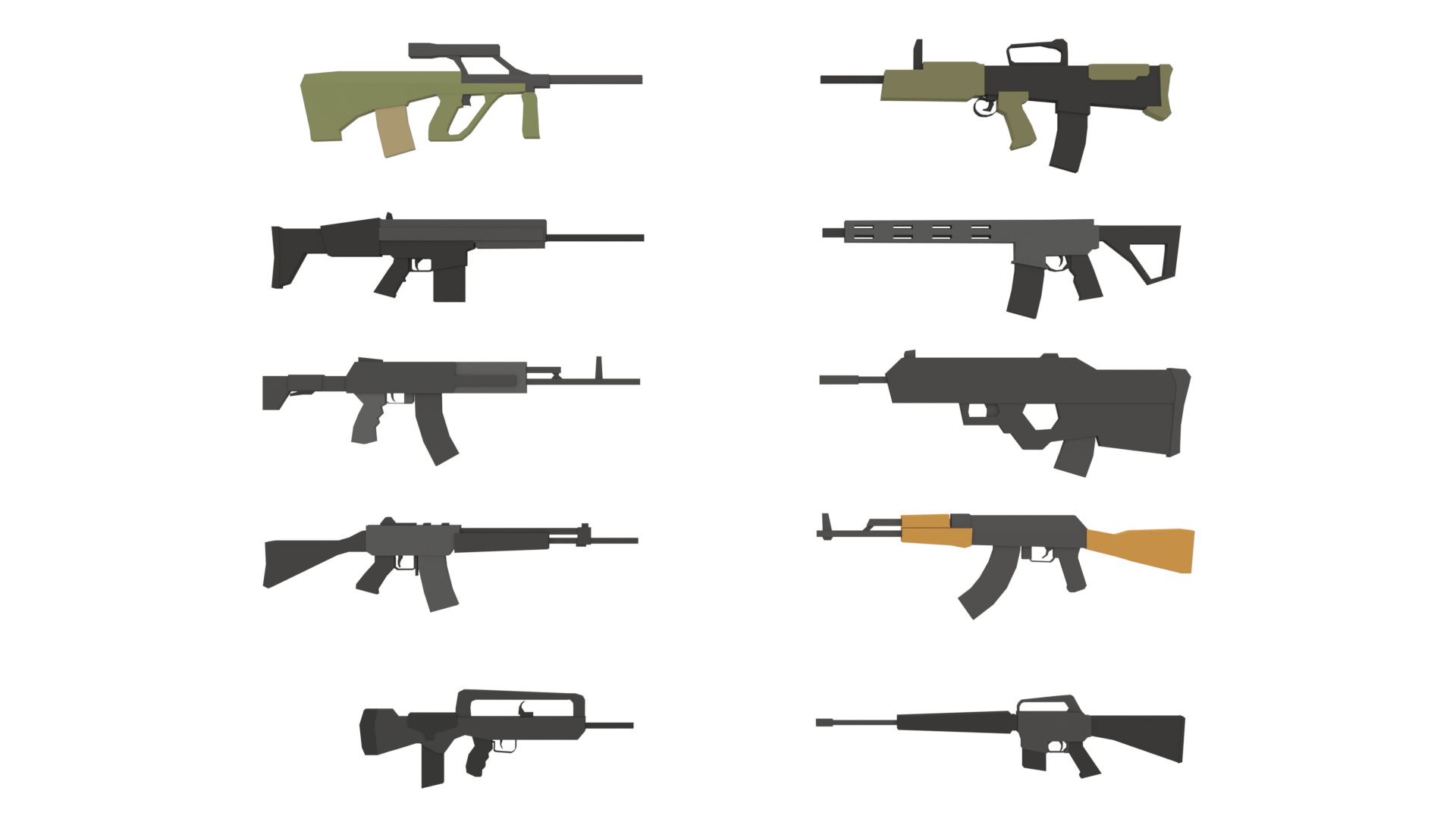Low Poly Rifle Pack
