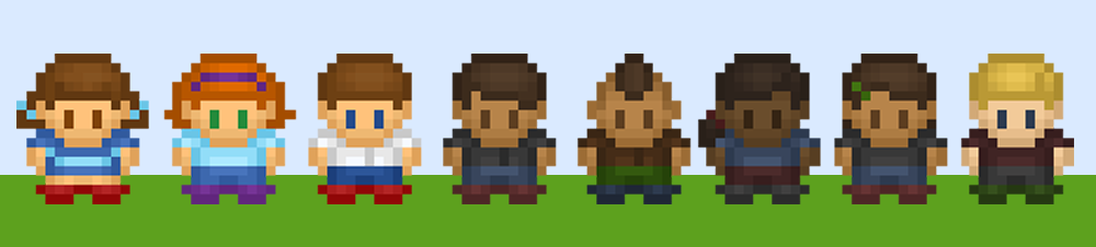 16x16 Character Sprites - Human Pack 1
