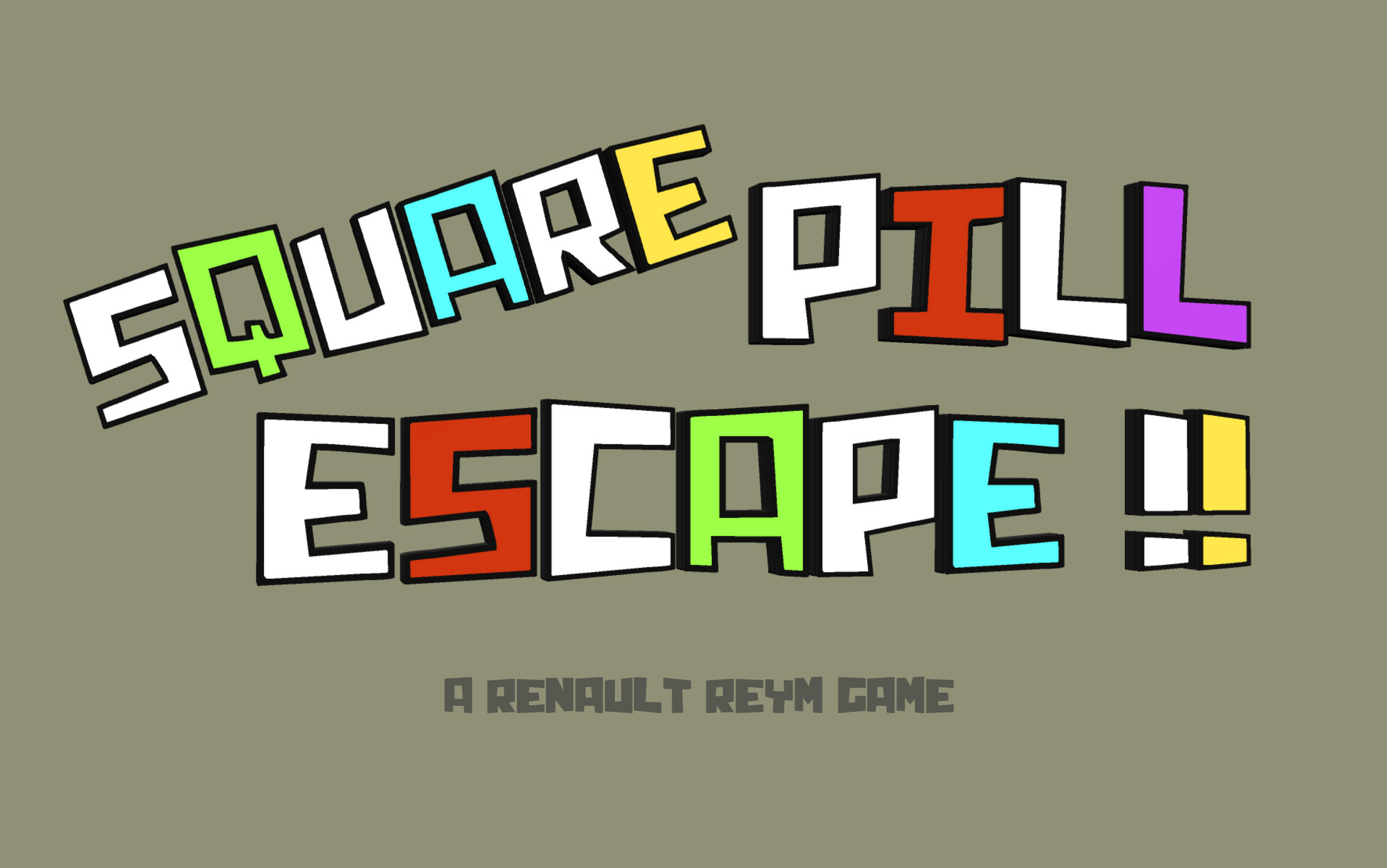 SQUARE PILL ESCAPE !!
