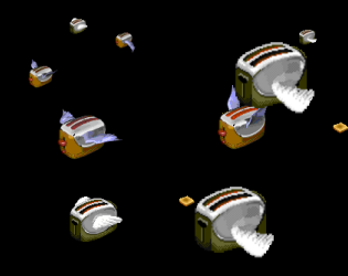 The Unofficial Flying Toasters Replica Screensaver By Hotdog Laserhouse