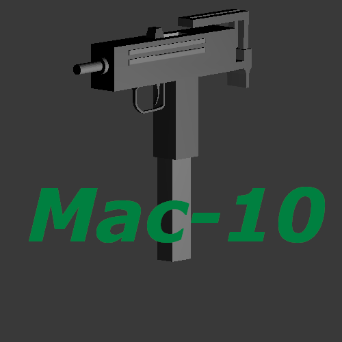 Low Poly Mac-10 + Texture