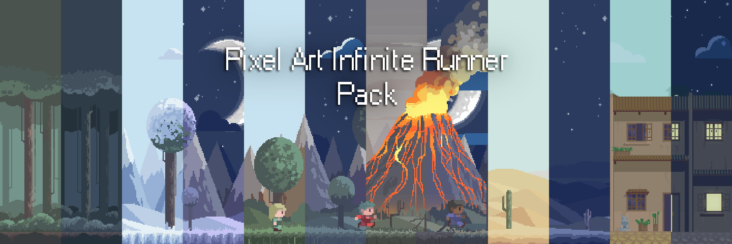 Pixel Art Infinite Runner - Pack