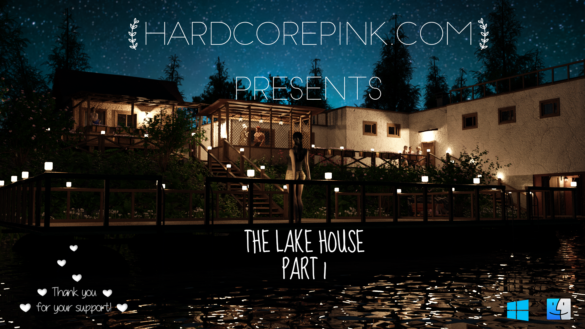 Hardcore Pink - The Lake House Part 1 - Adult Comic (NSFW)