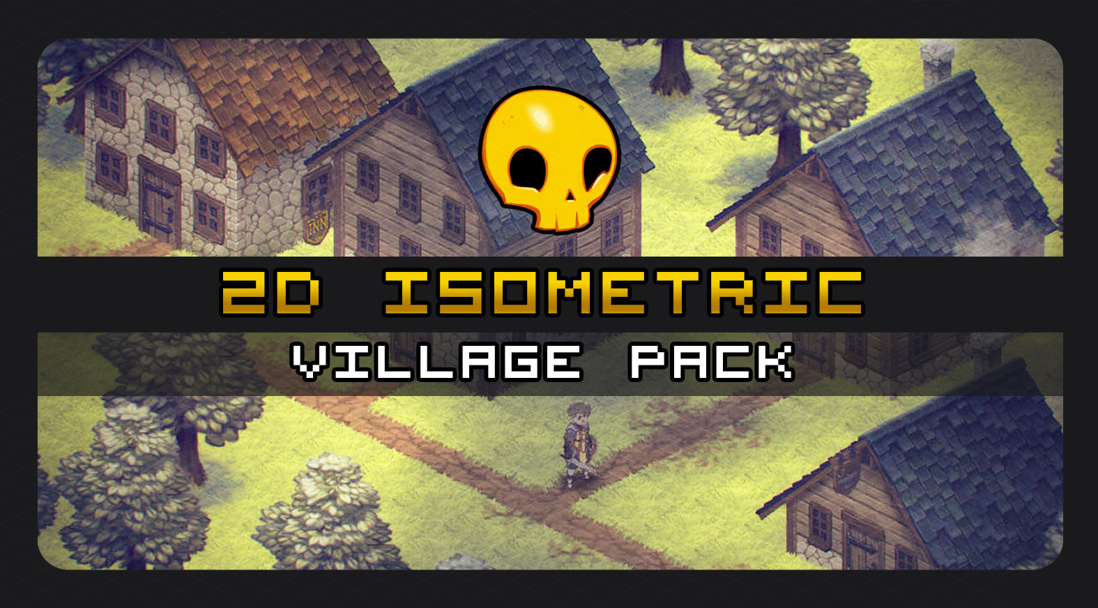 2D Isometric Village Tile Pack