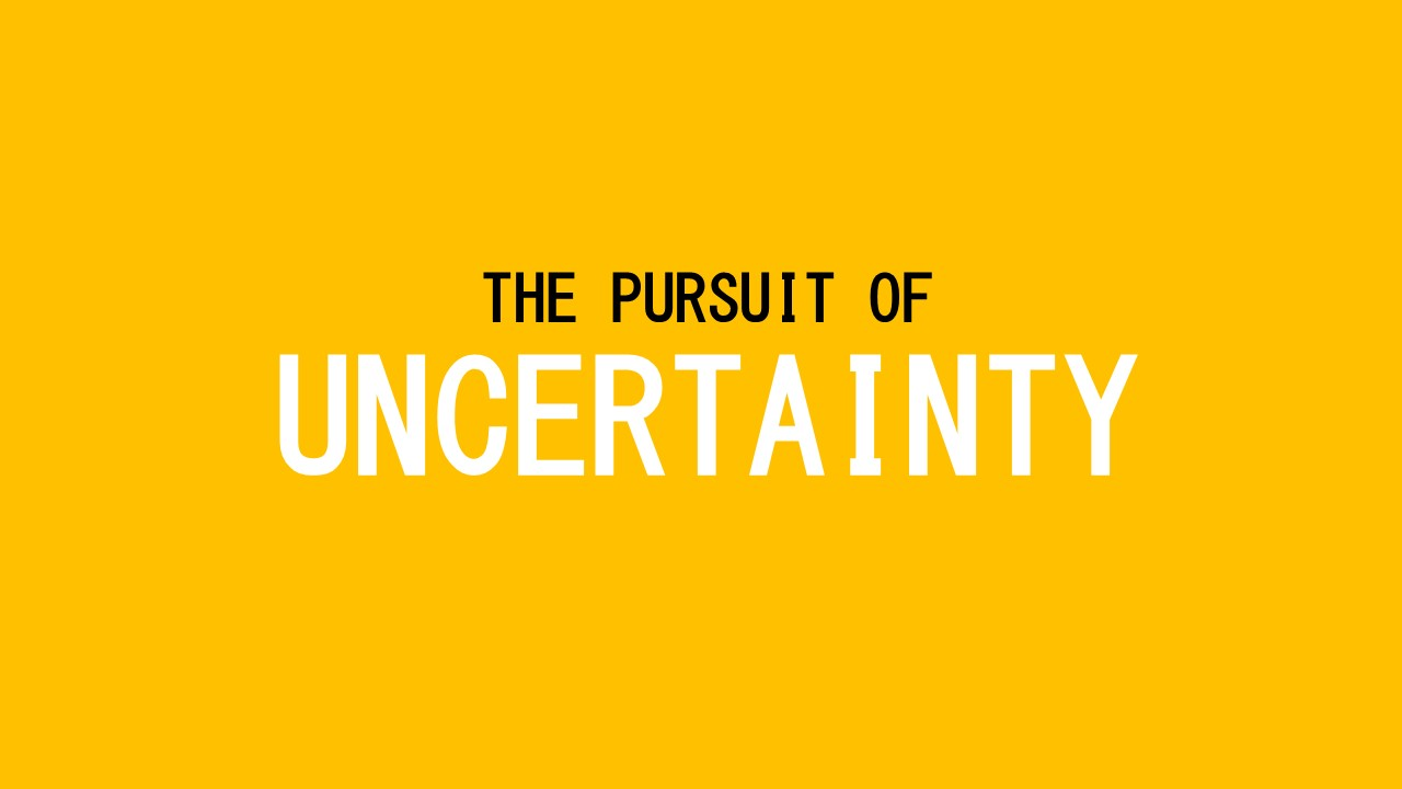 The Pursuit of Uncertainty