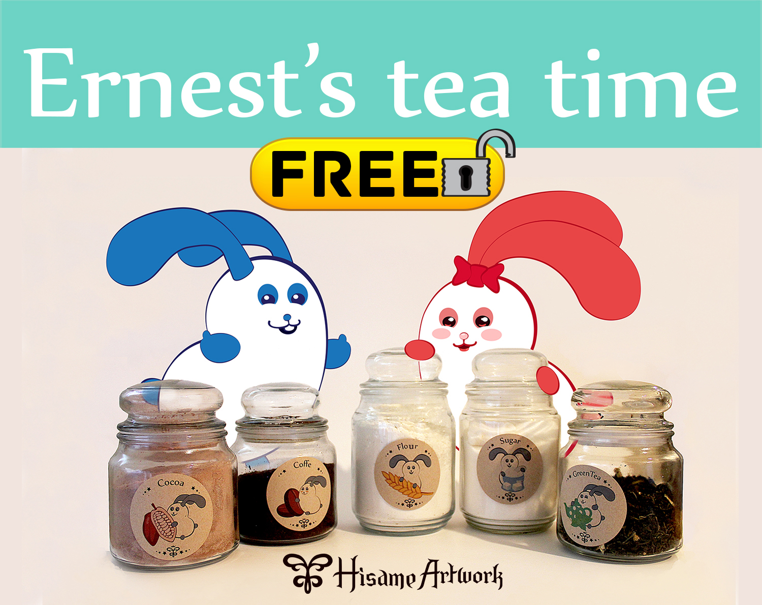 Ernest's tea time stickers