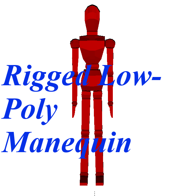 [RIGGED]Low-Poly Mannequin