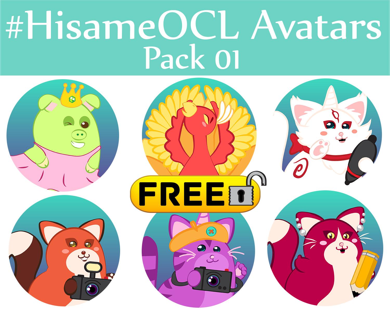 #HisameOCL Avatar pack