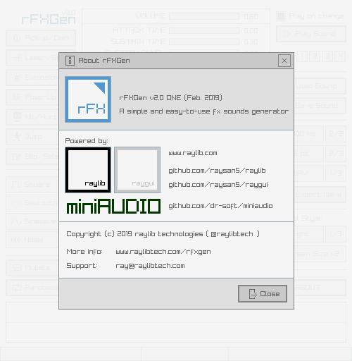 rFXGen by raylib technologies