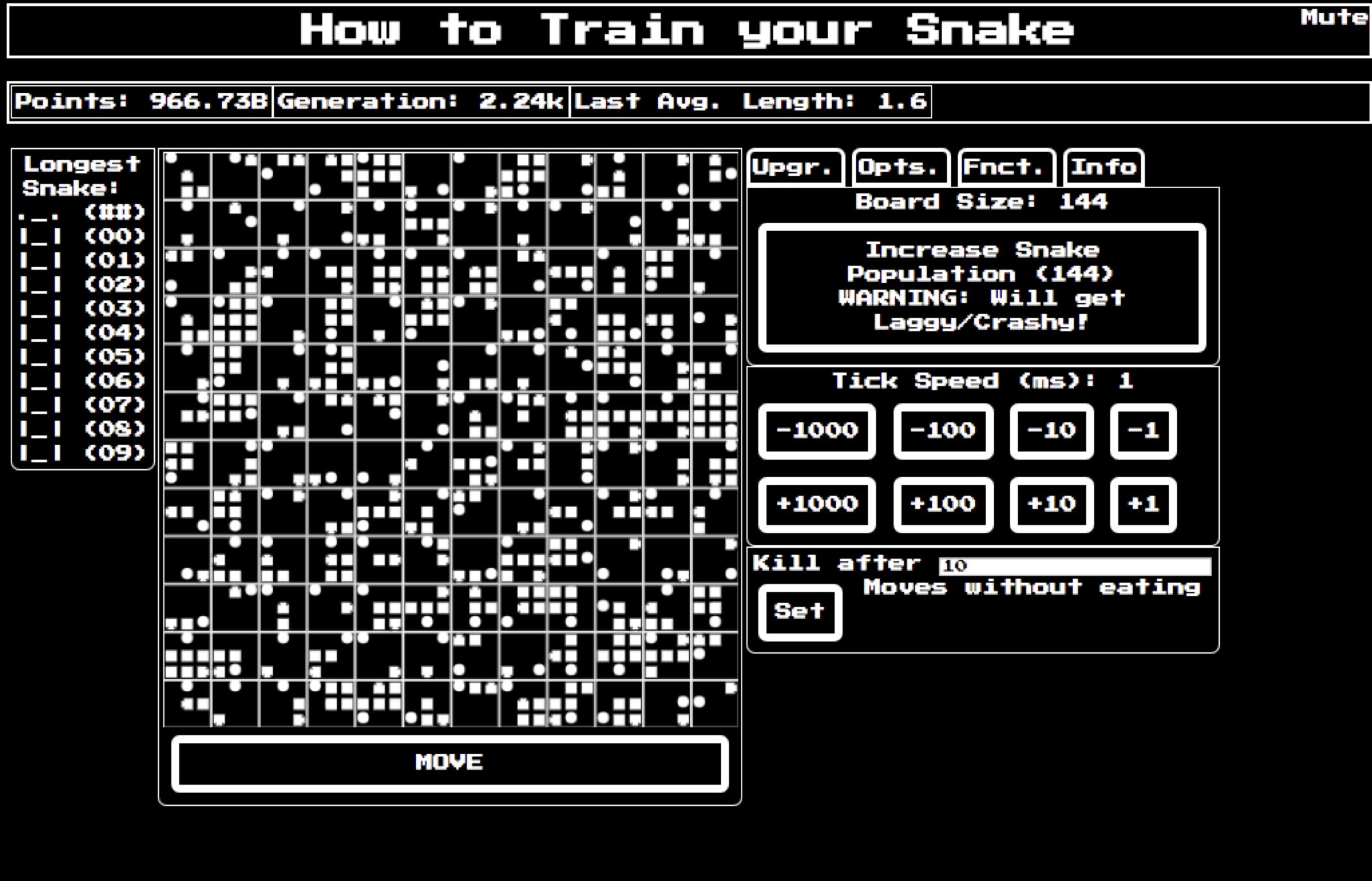 how to train a snake