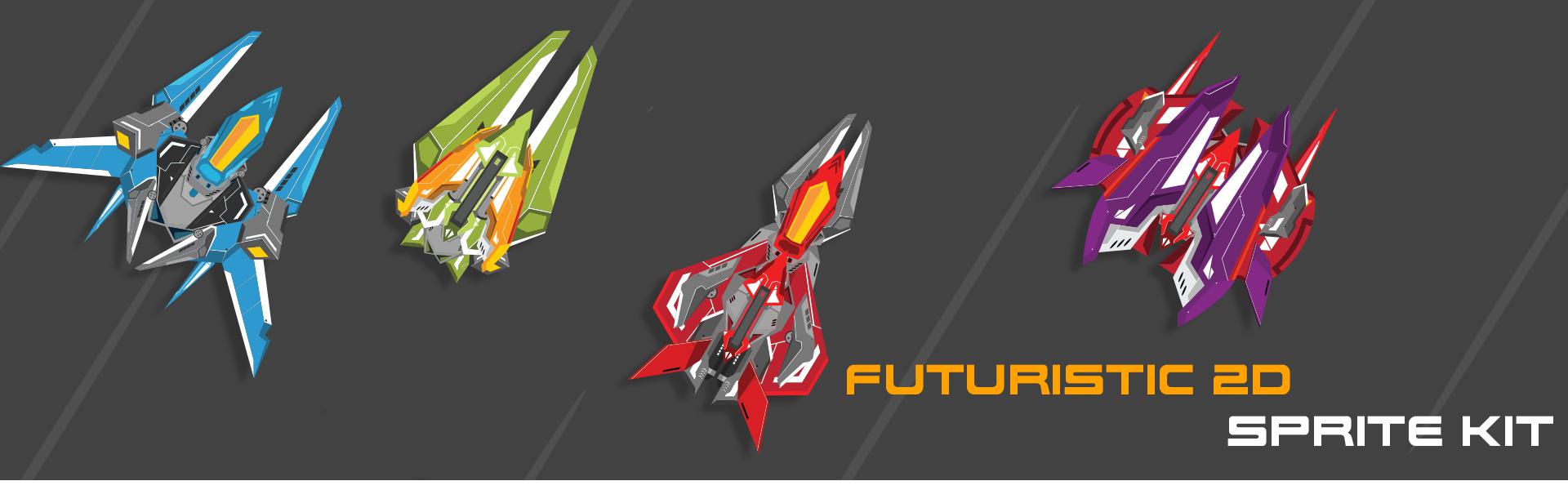 Futuristic 2D Sprite Kit