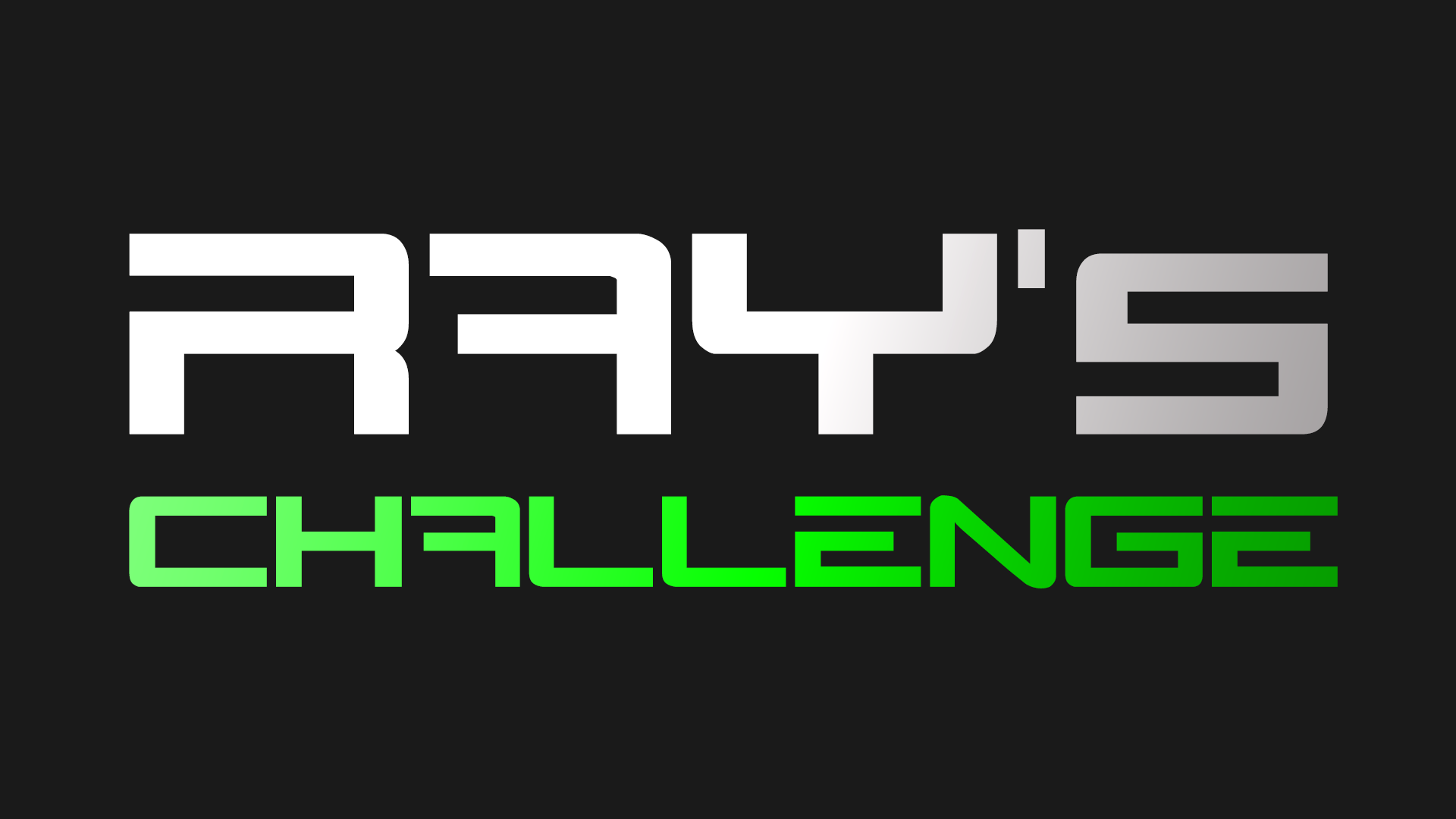 Ray's Challenge