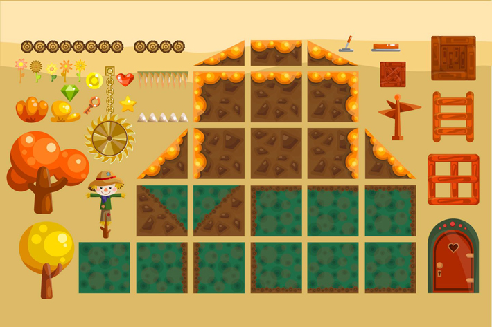 Platformer Game Free TileSet by Free Game Assets (GUI, Sprite, Tilesets)