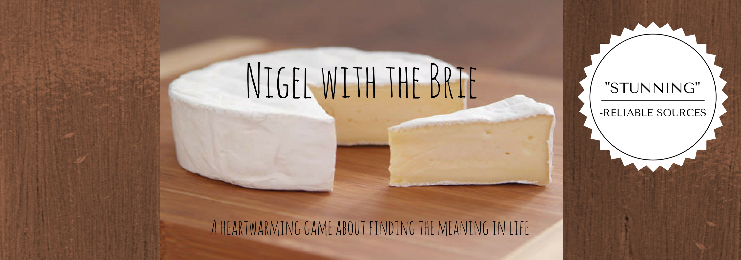 Nigel with the brie