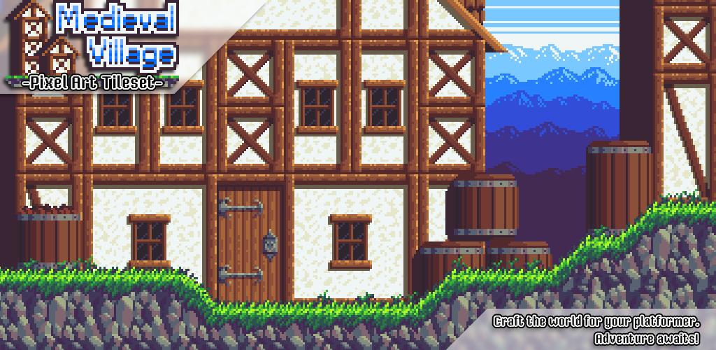 Medieval Village - Pixel Art Tileset