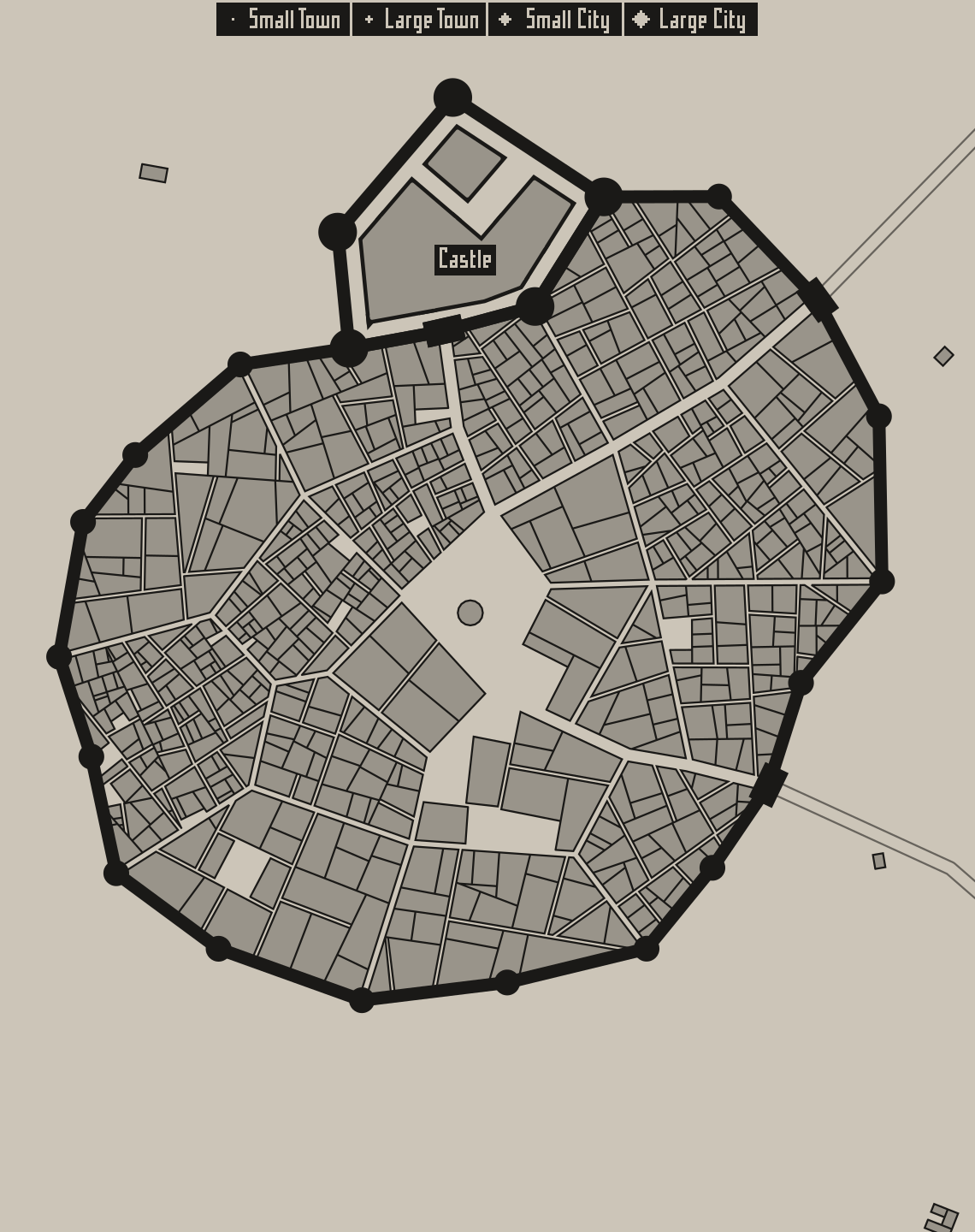 The First Post - Medieval Fantasy City Generator by watabou