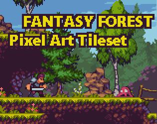 Fantasy Forest Pixel Art Tileset By Aamatniekss