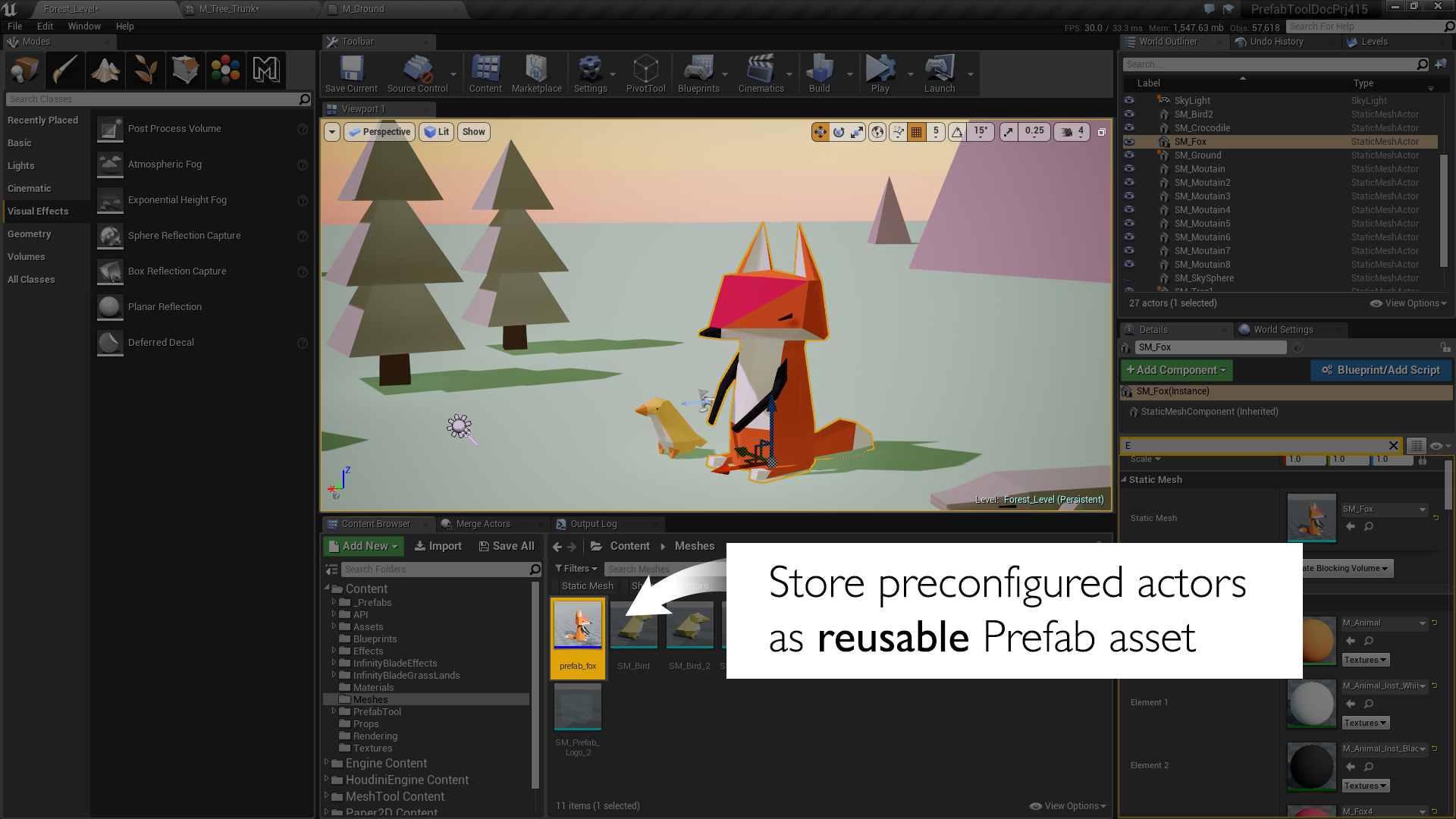 Prefab Tool for Unreal Engine by marynate