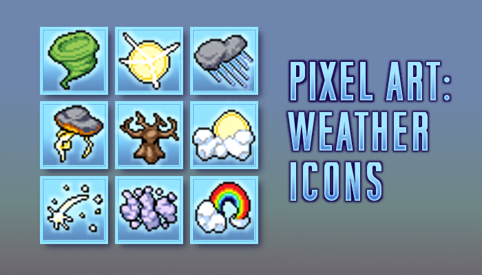 Pixel Icons - Weather