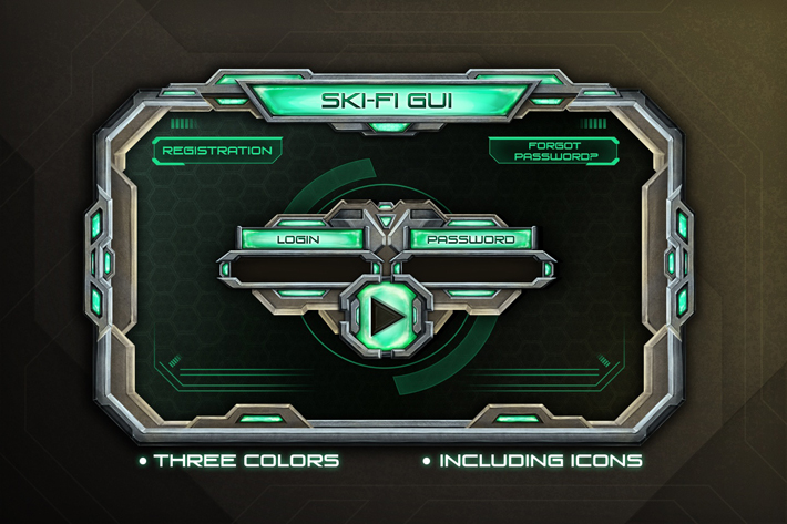 Sci-Fi UI by Free Game Assets (GUI, Sprite, Tilesets)