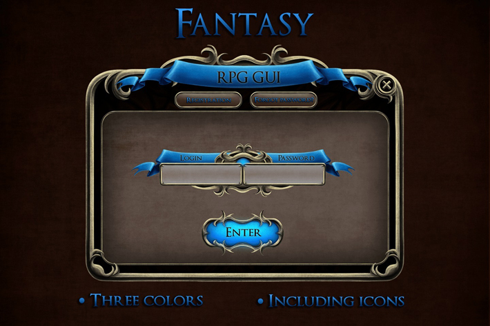 Fantasy RPG UI by Free Game Assets (GUI, Sprite, Tilesets)
