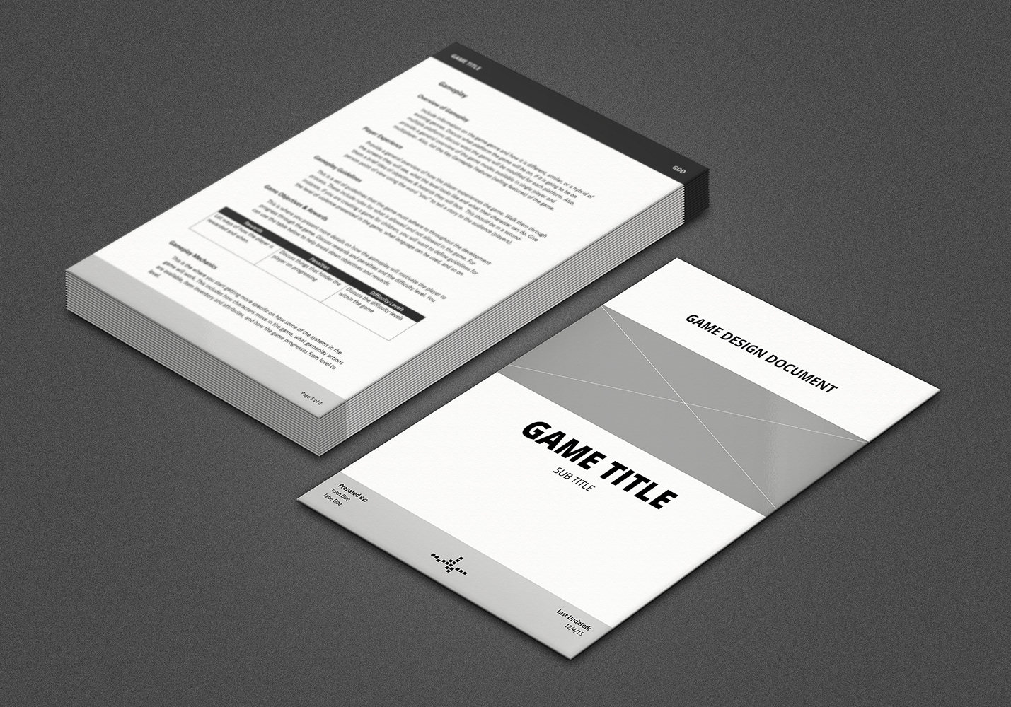 Game Design Document GDD Template By Vitalzigns - Game design document download