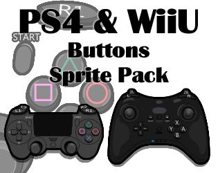 PS4 WiiU Buttons Sprite Pack By U GameZ