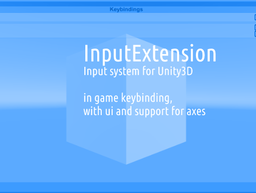 InputExtension - Unity3d in-game remapable input system by jtomes123