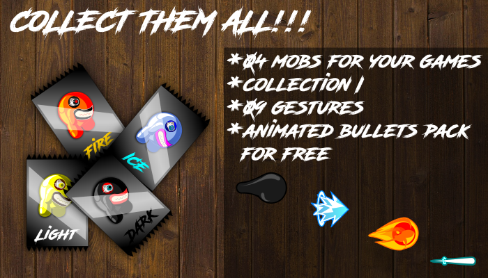 2d mobs for games collection I