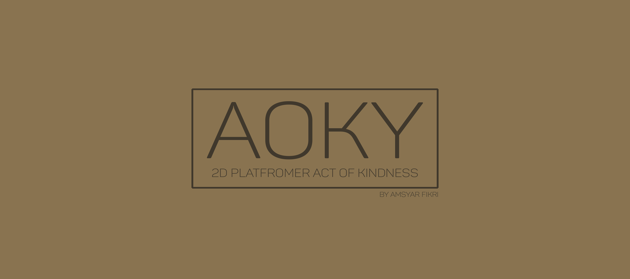 Aoky (2D Platformer Act of Kindness)
