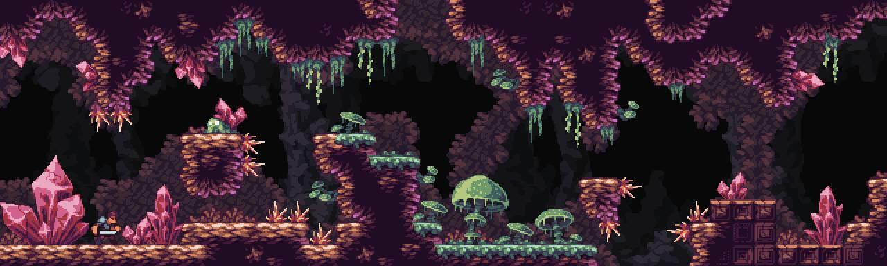 Fantasy Caves - Pixel Art Tileset