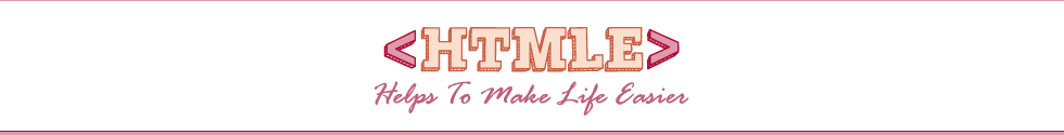 HTMLE Helps To Make Life Easier