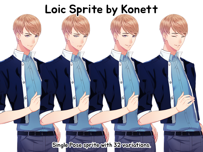 Loic Visual Novel Sprite by Konett