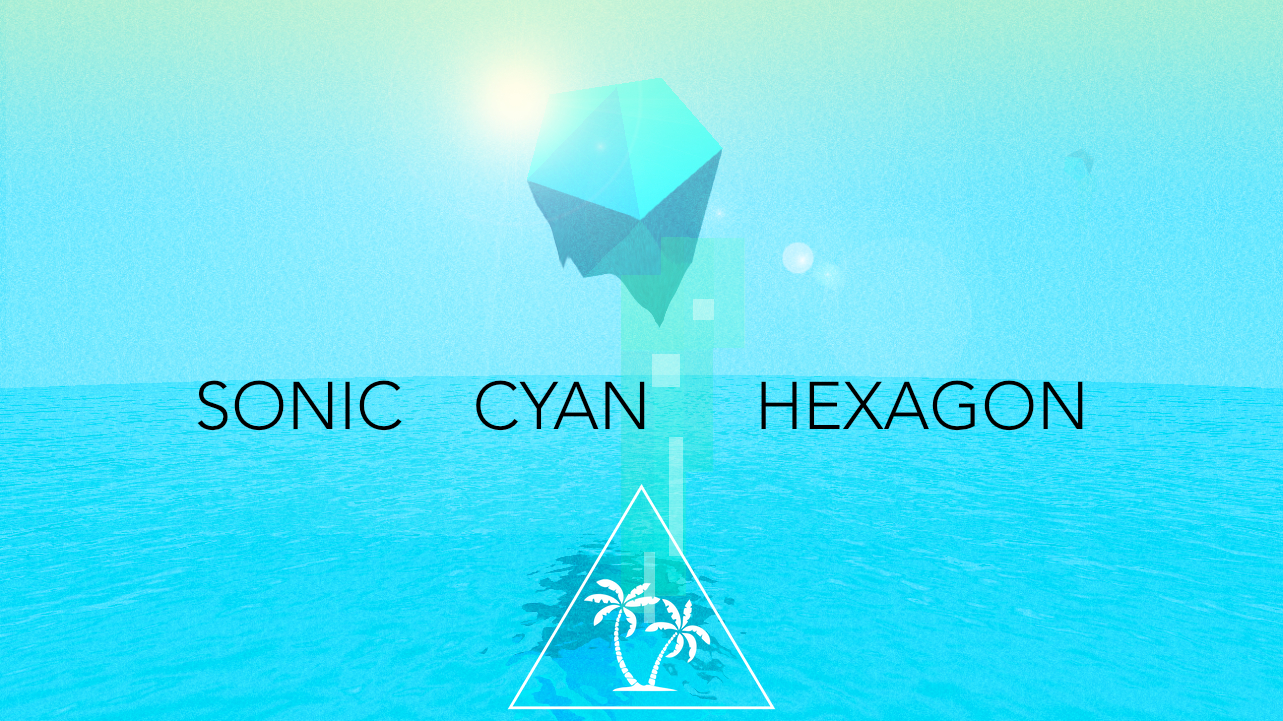 SONIC CYAN HEXAGON