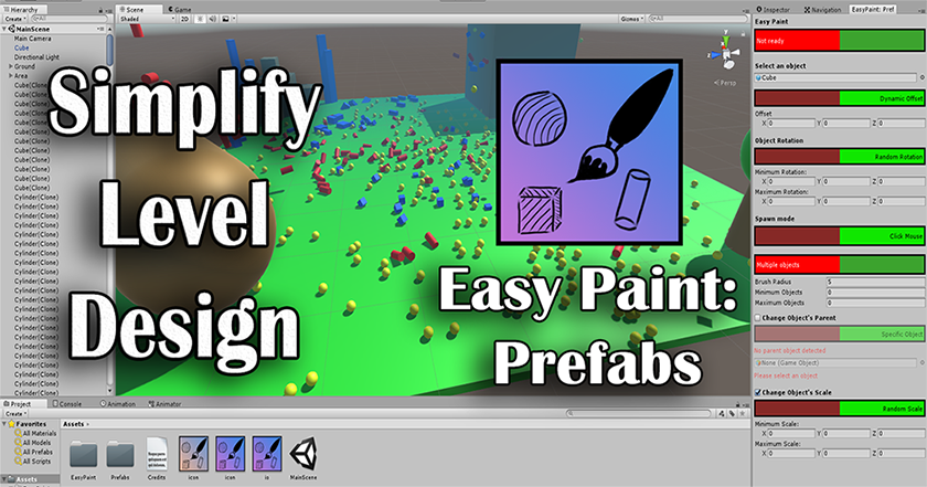 Easy Paint: Prefabs for Unity3d