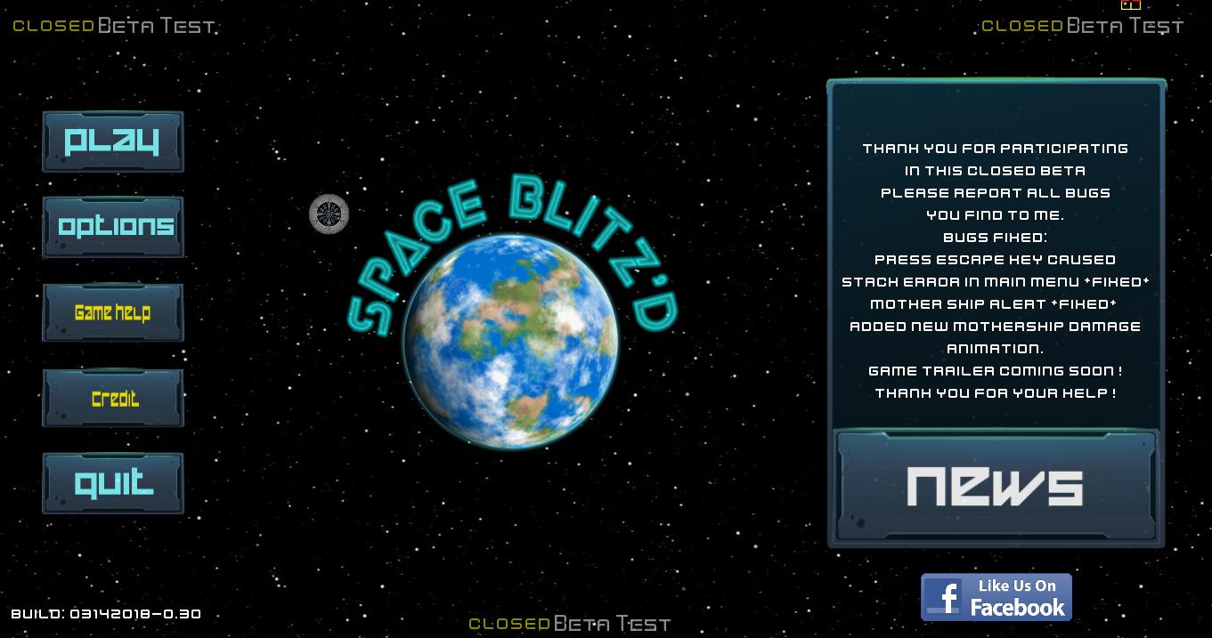 My First Game & Plans - Space Blitz'd v1 00 by av8rgamez