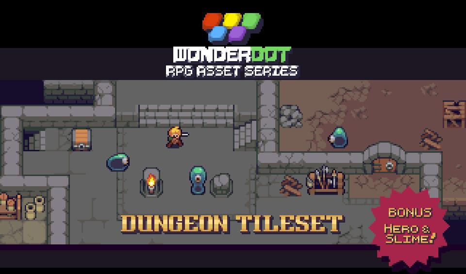 RPG Dungeon Tileset by Pita