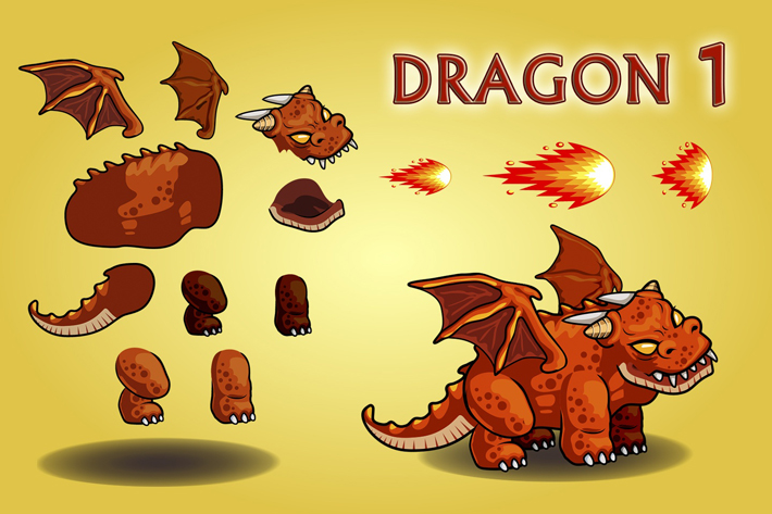 Dragon 2D Game Character Sprite Sheet by Free Game Assets (GUI, Sprite,  Tilesets)