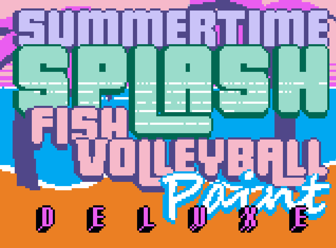 Summertime SPLASH Fish Volleyball Paint DELUXE