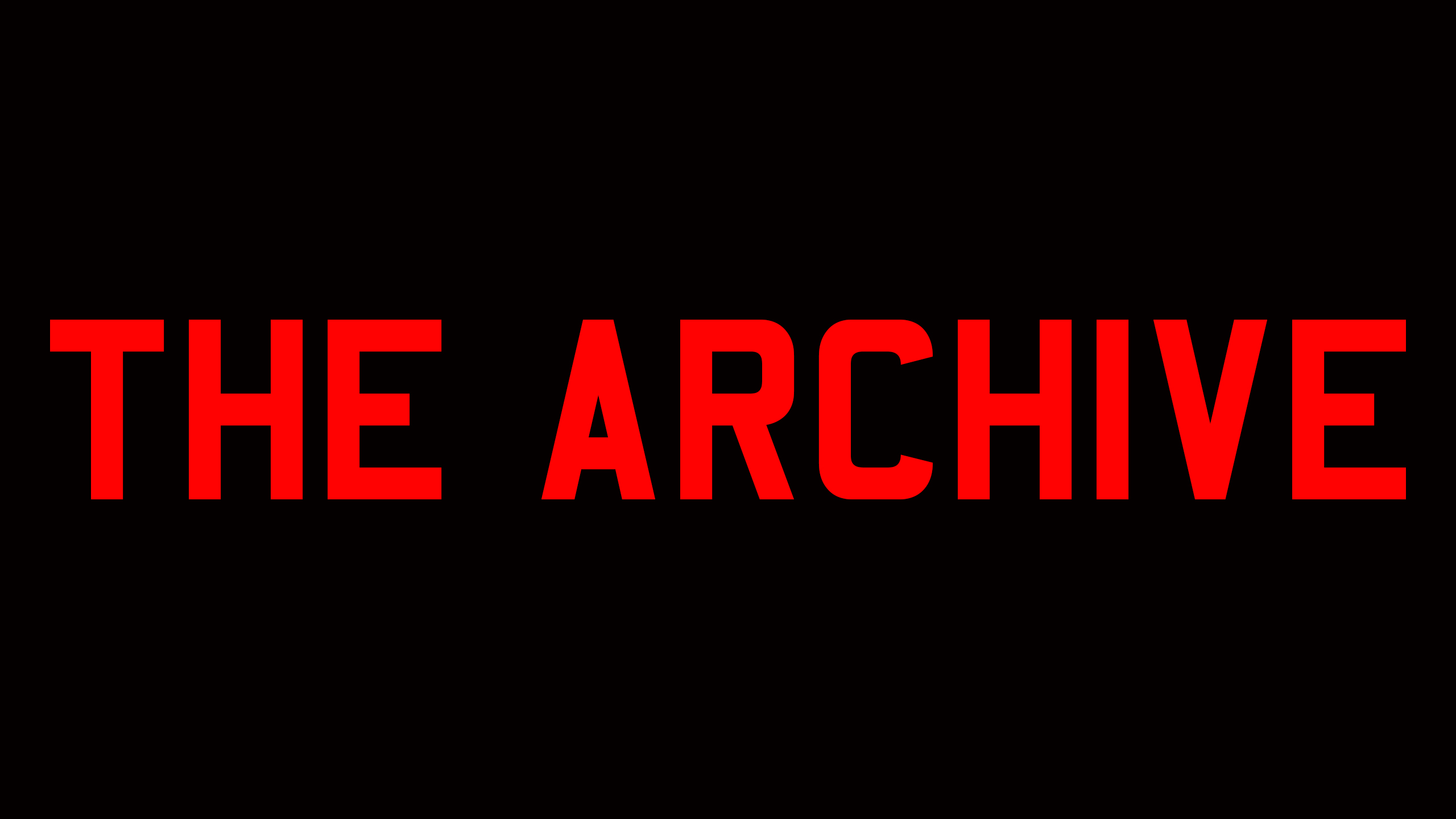 The Archive - Episode 1: Conform