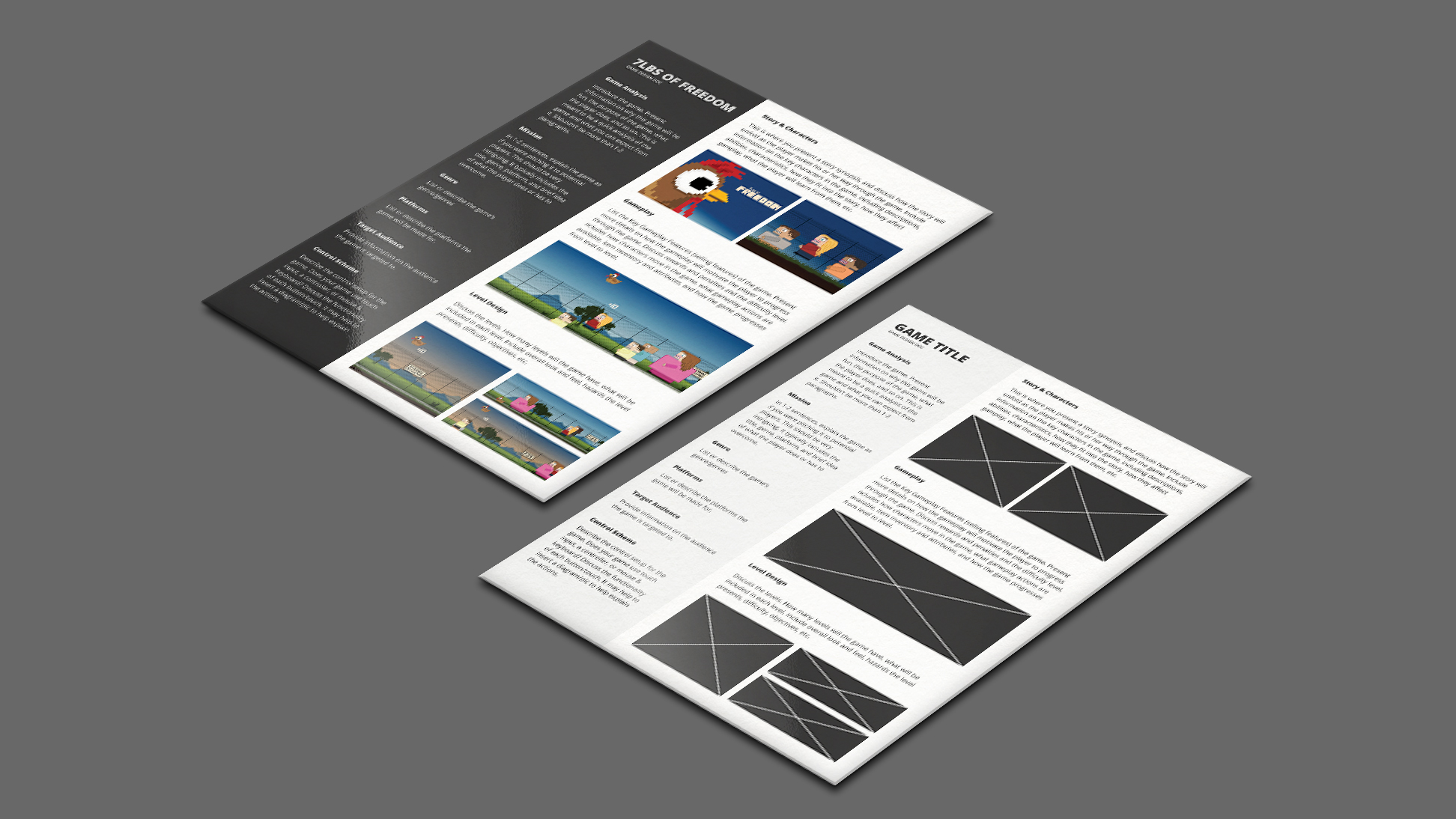 1 page game design document gdd template by vitalzigns comments maxwellsz