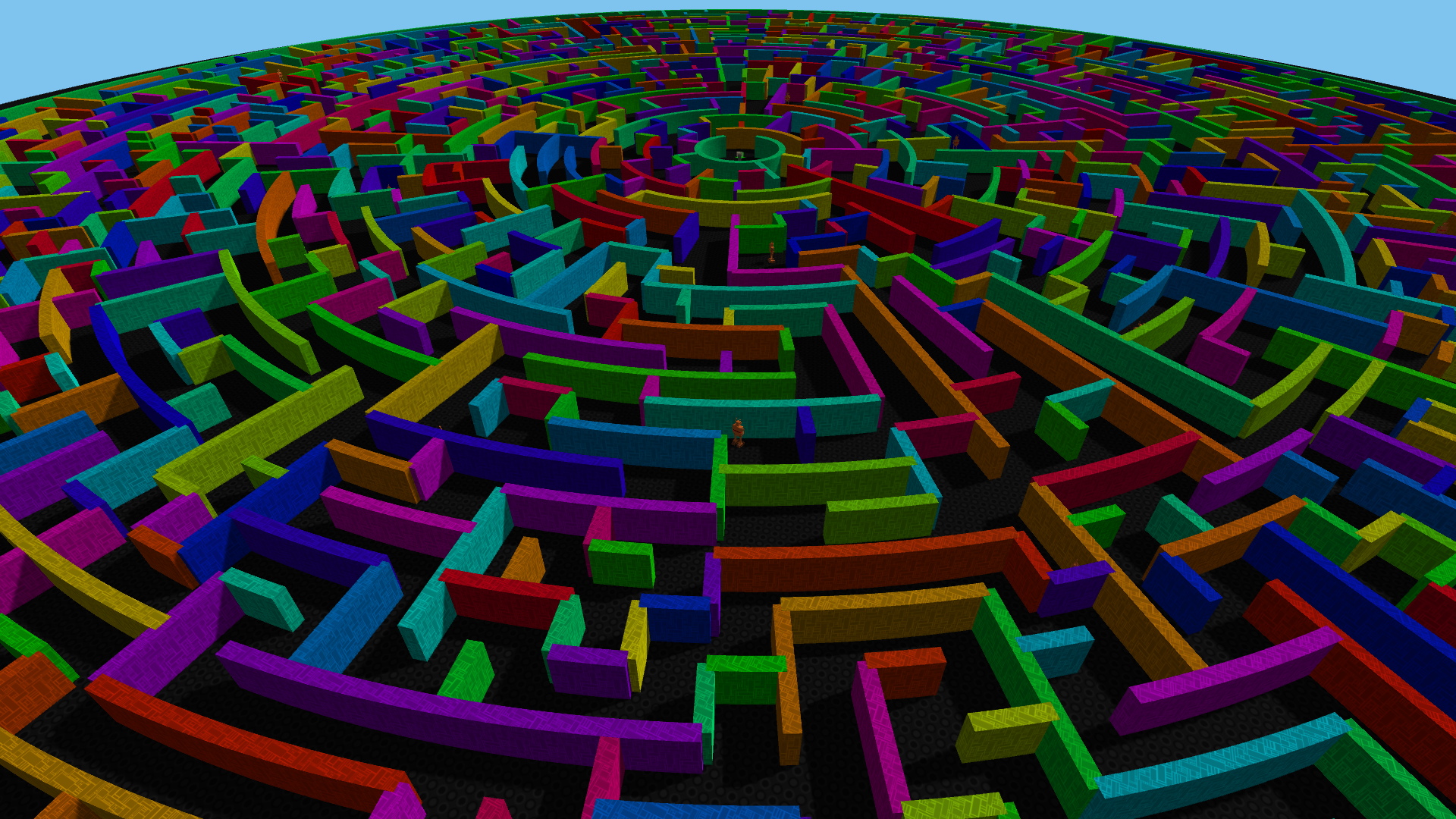 Mechanized Minotaur Circular Maze Demo by Poor Track Design