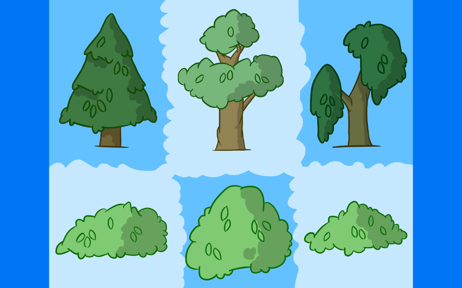 Illustrated Foliage Pack