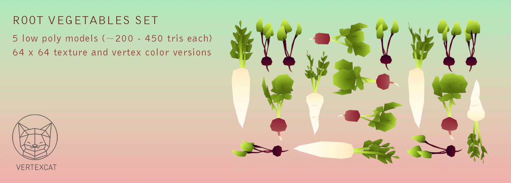 Root vegetables set