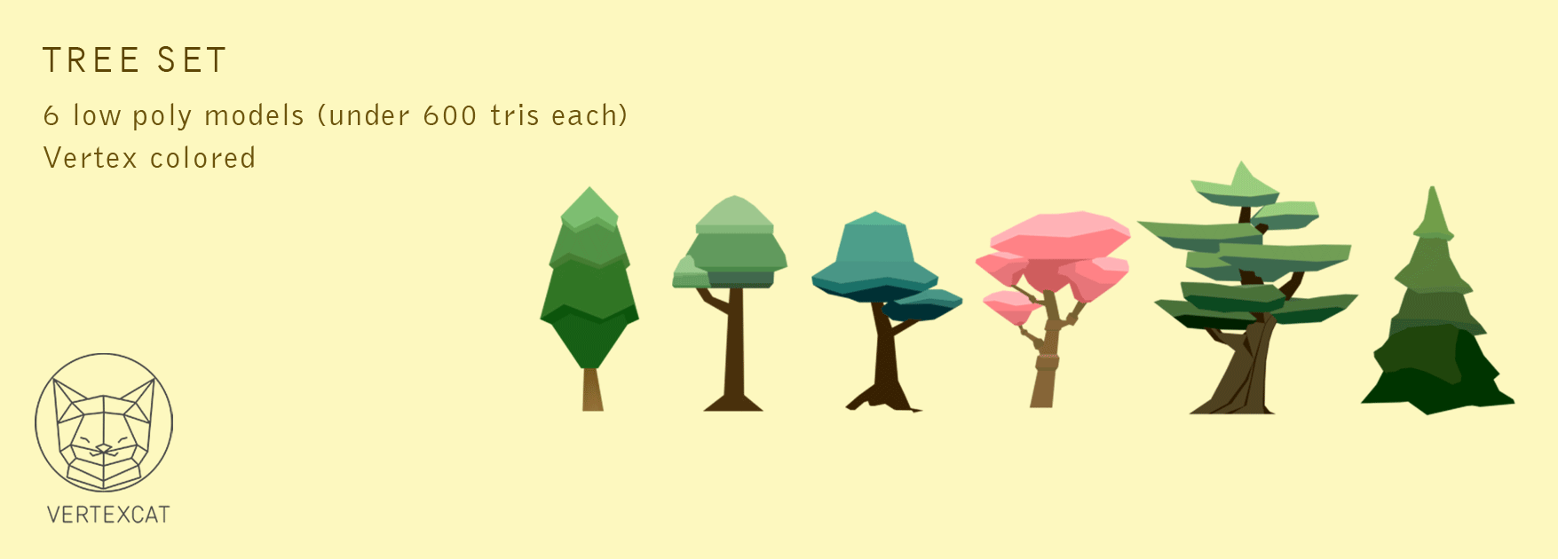 Vertex color trees set